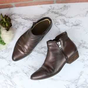 Naturalizer Blair Bronze Ankle Booties 7